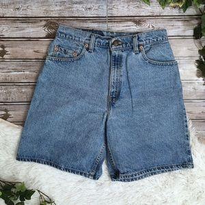 VTG LEVI 551 Relaxed  High Rise Denim Jean Shorts
